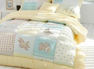 韩国代购床品 卡通儿童纯棉四件套糖果色 c754-y,床品,