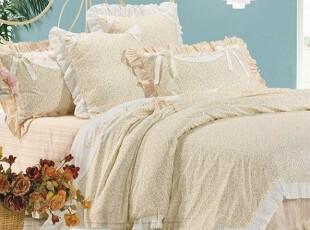 田园系列二丨高档绣花+印花特价全棉床品四件套品牌加工商,床品,