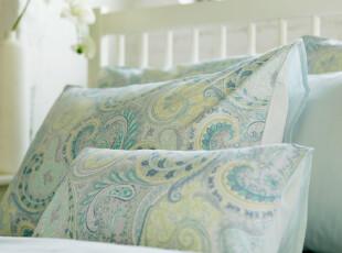特价包邮 预售清凉蓝 出口外贸 全棉贡缎四件套 美式田园床上用品,床品,