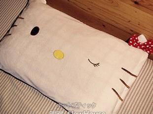低价热销HELLO KITTY 立体蝴蝶结 枕头套 枕套 单人枕头套 枕巾,床品,