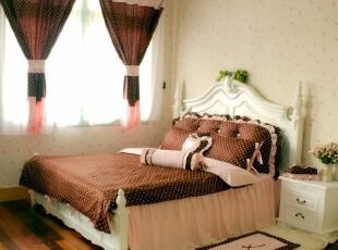韩式床上用品可爱床品套件纯棉床裙四件套 1.2-1.8米巧克力点,床品,