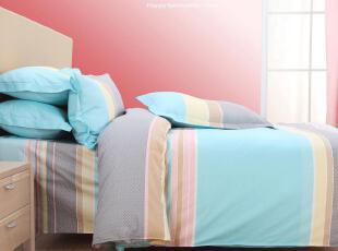 乐哈生活 正品家纺 可爱被套全棉时尚床品 公主纯棉床单四件套,床品,