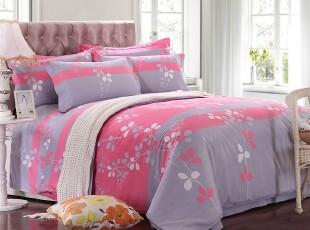 四件套全棉特价纯棉公主床品婚庆田园床上用品床单被套清仓相思叶,床品,