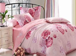 家纺床上用品4件套床品 纯棉四件套1.8 床单被套全棉 斜纹特价,床品,