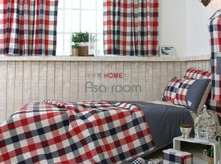 【Asa room】韩国进口代购床品 蓝色格子纹夏凉被正品空调被c671,床品,