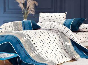 施诺家纺 四件套 全棉环保印花 公主田园 床上用品 纯棉特价,床品,