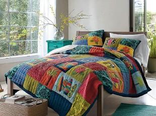 夏威夷热情海滩  手工绗缝被三件套空调被  4.7KGS,床品,