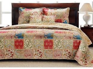 波西米亚风 外贸原单 美式绗缝被 空调被  床盖 全棉床品三件套,床品,