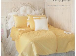 韩国design-julliette*定制*芥末の黄*温暖极细丝床品套装2087,床品,