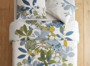 美国代购正品Westelm印花床罩三件套 床品套件,床品,