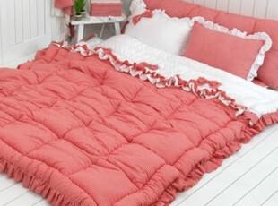 【Asa room】韩国进口代购床品 红色格子被子地板用四件套 c609-4,床品,