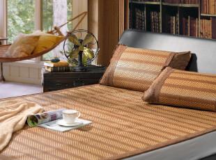 热销新品 富安娜家纺圣之花夏季席子藤席凉席 床上用品 苏格兰条,床品,