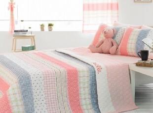 【Asa room】韩国进口代购床品 粉色夏凉被棉空调被四件套 c802-p,床品,