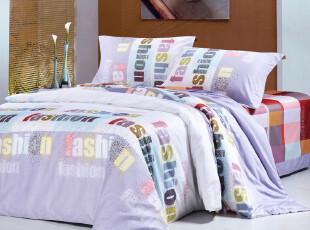 玉如忆家纺 床上用品 梦幻活性印花四件套全棉贡缎--创意星空,床品,