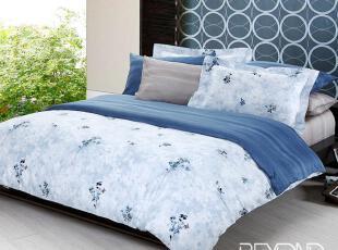 博洋家纺 床单六件套 贡缎斜纹活性印花 床上用品-兰溪晨曲 新品,床品,