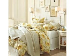 美国代购正品Potterybarn太阳花被罩套件 三件套,床品,