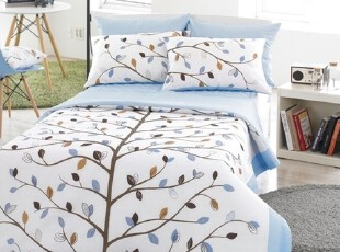 【Asa room】韩国进口代购床品蓝色小树夏凉被空调被四件套c809-b,床品,