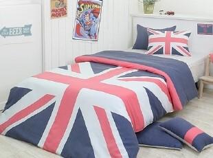 【Asa room】韩国进口代购床品时尚异国风情被套三件套蓝色c795-b,床品,