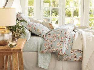9折限时 美国进口-SAKULA樱花有机棉被套枕套三件套 可选配欧枕套,床品,