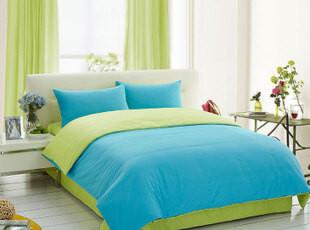 盛宇家纺 韩式活性床上用品 纯色四件套全棉床单式 多色可选,床品,