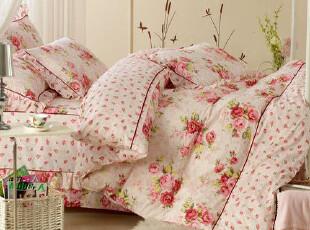 罗莱家纺 田园公主韩版床裙 床罩床笠式四件套 床上用品正品包邮,床品,