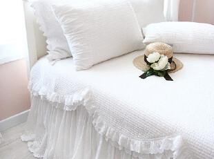 韩国正品代购  白色衍缝夏用被空调被三件套/床上用品,床品,