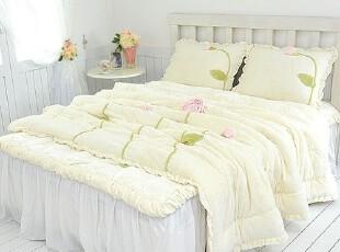 【Asa room】韩国进口代购床品 柠檬色短绒蒲公英四件套 c729-y,床品,