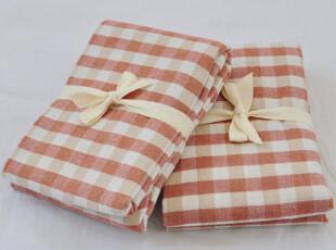柏文家适 外贸全棉格子水洗棉靠垫套单人枕套单品43*63MUJI良品风,床品,