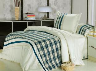 淘宝独家 出口北欧 抑茵四件套 色织绣花床上用品四件套B,床品,