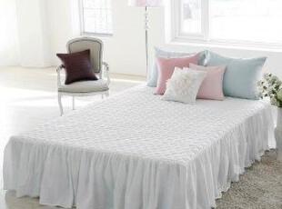 韩国正品代购 夹棉加厚纯棉白色床裙/双人床 单人床床裙 超值,床品,