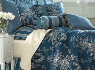 【纽约下城公园】法国皇家蓝乡村生活图景精致床品多件套 可单选,床品,