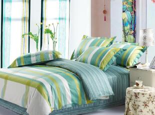 夜雅家纺 顶级床上用品 100%纯棉 活性印花四件套 DS,床品,