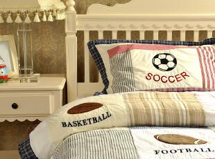 JF2598 美国 足球 橄榄球 儿童少年 绗缝被两件套,床品,