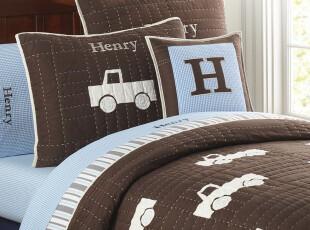 夏日特惠美国进口- 美式经典儿童费罗佳系列绗缝双人三件套 床罩,床品,