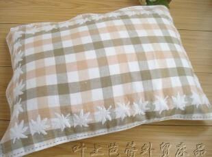 孚日赛维丝 纯棉双层纱布提花枕巾 秋思枕巾 50*75cm,床品,