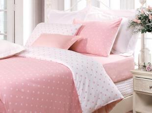 富安娜家纺 玻璃球 正品 全棉平纹 印花 床单四件套 床上用品,床品,