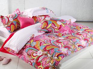 Dohia多喜爱 纯棉斜纹活泼可爱色彩绚丽缤纷床品四件套 小步舞曲,床品,