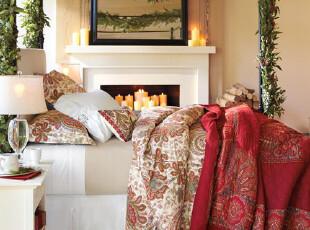 9折 美国代购查勒斯200TC 有机棉佩斯利枕套被套三件套  现货,床品,