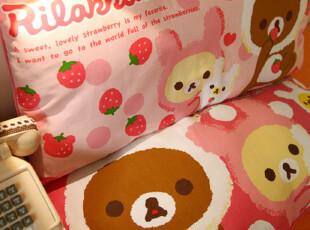 日本订单 轻松小熊 冰激凌枕头|双人长枕 4款选 0.85kg,床品,