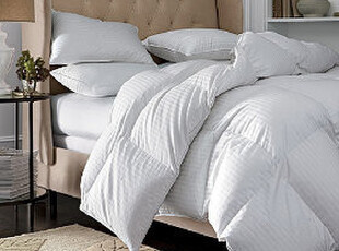 美国进口-350TC 贡缎缎纹欧洲白鹅绒被 抗过敏 10年品质保证 中型,床品,