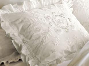 美国进口-纯洁曼妙配套配套枕套之二 重工绣花单个,床品,