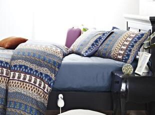 Rozene羅吉尼-800TC埃及棉高织贡缎色织印花床品四件套-异域风情,床品,
