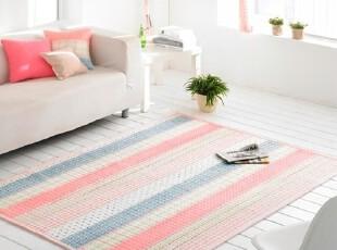 【Asa room】韩国进口代购床单 纯棉地毯爬行垫简约粉色 dc175-p,床品,