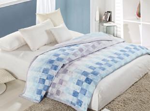 宝缦家纺 2012年新款 夏凉被 沁肤被 蓝调雅柔空调被,床品,