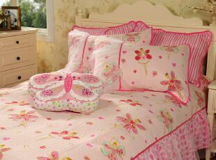 JF2704 出口美国原单 舞动的精灵 美式绗缝被褥 被盖 床裙 三件套,床品,