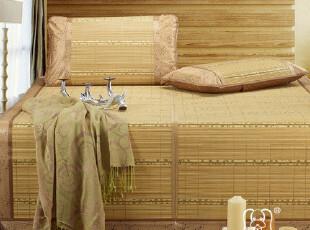 幸运狗 绿色印花竹席 可折叠凉席  双人单人竹席子,床品,