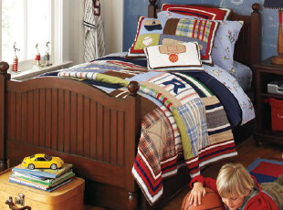 推广价 美国进口-青少年/儿童运动系列绗缝套件 送枕套  国内现,床品,