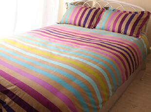 UM 床上用品创意潮流床品纯棉斜纹活性印花四件套幻彩条魔幻格,床品,