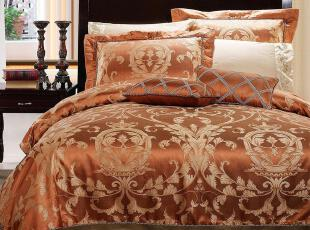 Gardenia格蒂雅-100%真丝棉色织大提花美国原单床品四件套-阿洛特,床品,
