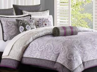JF2697 莫尔特利300TC超柔棉被套枕套三件套 专版 原包装,床品,